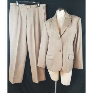 Pendleton 14W 18 Pant Suit Wool Houndstooth